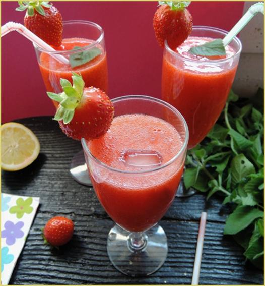 çilekli limonata ( limonade turque à la fraise)