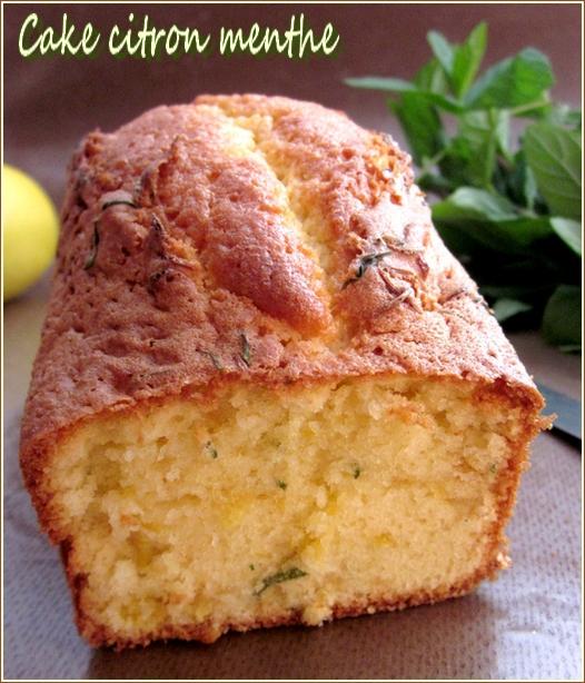 Cake citron menthe